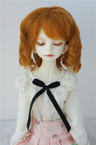 JD178 7-8inch 18-20CM Mohair Sausage Rolls BJD Wigs 1/4 MSD Doll Accessories (Ginger)