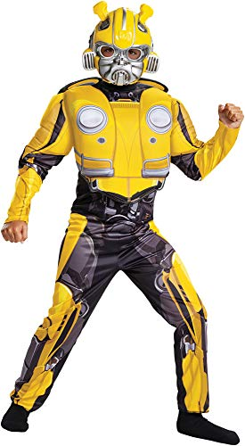 Disguise Boy's Transformers Bumblebee Muscle Outfit Child Halloween Costume, Child M (7-8) ()