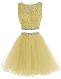 Amazon.com: Yellows - Prom & Homecoming / Dresses: Clothing, Shoes ...