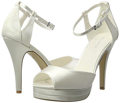 Marfil Con Wedding Sandalias Mujer Angelis Menbur Para ivory Plataforma q4xBPxa6