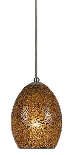 Cal LightingPN-1085-7-DB One Light Pendant 120V, 60W MAX, E26 - Dark Bronze, 7 ft.