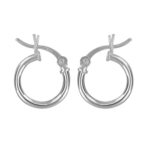 Sterling Silver Small Huggies Hoop Earrings 2mm x 12mm