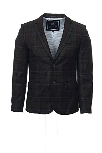 Tommy Hilfiger Mens Wool Blend Plaid Sportcoat Brown (Plaid Wool Blend Blazer)
