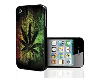 Yellow, Green, and Red Rasta Support Legalizing Weed Hard Snap on Phone Case (iPhone 4/4s) by supermalls