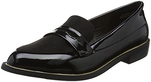 New Look Women's Wide Fit-Kuthy Loafers Black (Black 1) vb6sN