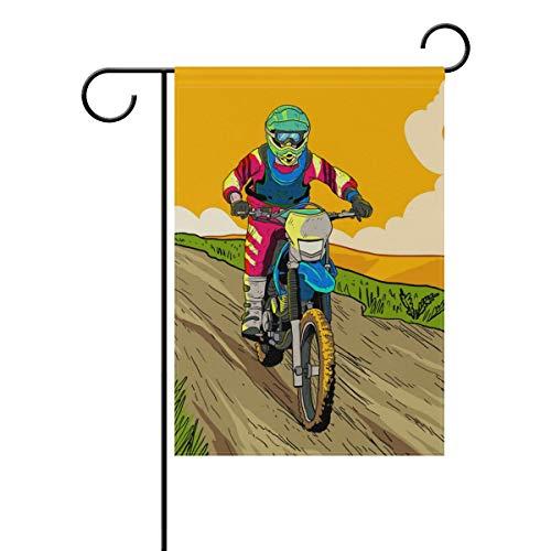 (Jojogood Let's Ride Dirt Bikes Garden Flag 12
