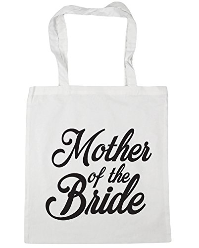 HippoWarehouse Mother of the Bride Tote Shopping Gym Beach Bag 42cm x38cm, 10 litres White