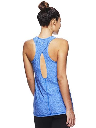 (HEAD Women's Match Up Racerback Tank Top - Sleeveless Flowy Performance Activewear Shirt - Nautical Blue Heather Match Up Tank, Small)
