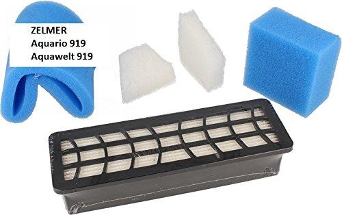 Aspirapolvere Filtro HEPA Compatibile con ZELMER AQUARIO 919 - Set - HEPA Filter + Motor Foam Filter + Foam Filter + 2 microfiltro - Sostituzione Aspirapolvere Filtro - vuoto Accessori BSD