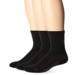 ASICS Contend Training Crew Socks (3-Pack), Medium, Black