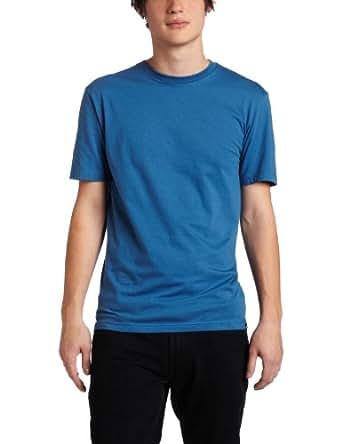 Quiksilver Men's Blank Slim Fit T-Shirt, Coastal Blue, Large