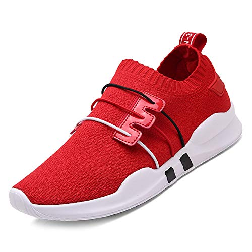 Mujer Blanco ZHZNVX Mesh Black Summer Negro Elastic Sneakers Fabric Heel Rojo Flat Zapatos Comfort de qwPCw1