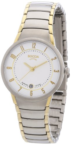 Boccia B3158-02 Ladies Titanium Two Tone Bracelet Watch