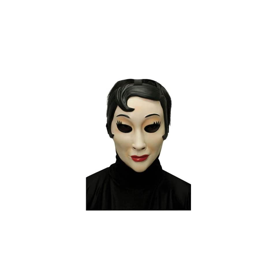 Scary Masks Emo Girl Plastic Mask Halloween Costume   Most Adults