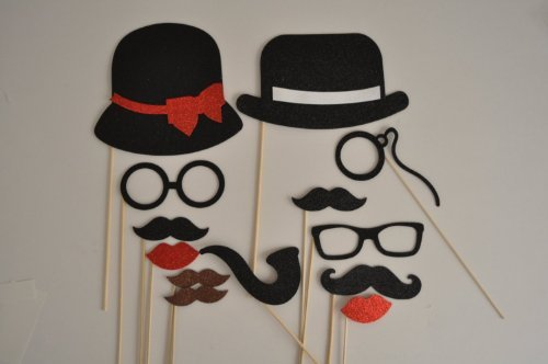 Mustache Mustaches Glasses Material Glitter product image