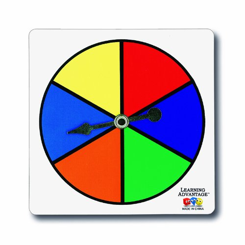Learning Advantage 7354 Six-Color Spinners (Pack of (Game Spinner)