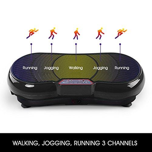 GENKI Fitness Vibration Platform Workout Machine Whole Full Body Shape Exercise Training Power Plate (Black) by GENKI (Image #3)