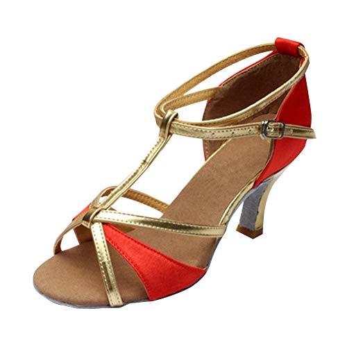 Zapatos Informal Mujer 7cm Hebilla Brillos Performance Bailarina Estándar Libre Latinos Aire Rojo Baile Yudesun Danza Salsa Deportes Tango Mujeres Salón Calzado Práctica q0BHIt1