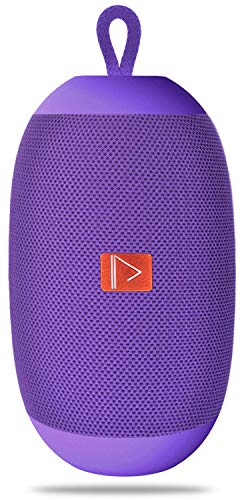 Aduro Portable Bluetooth Speaker, HIVE Wireless Speaker with Built-in Mic, USB, AUX and MicroSD Input (Purple)