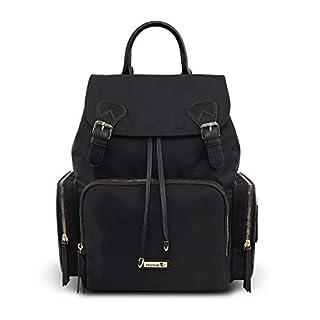 Hafmall Diaper Bag - Waterproof Multi-Function Travel Back Pack Stylish Baby Bag (Black)