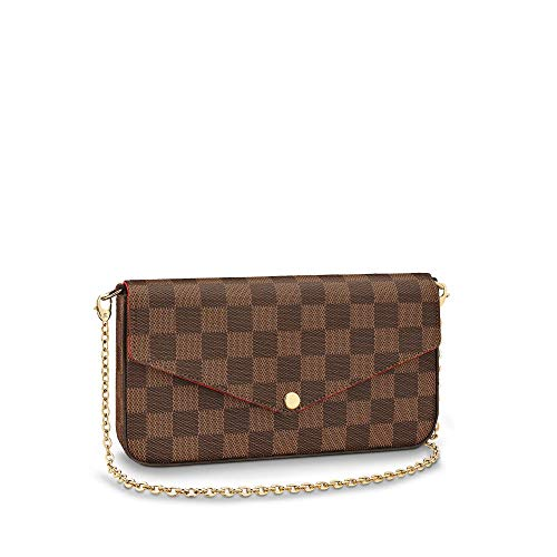 Luxury Designer Womens Small Chain Crossbody Bag Monogram Canvas Flap Purse -