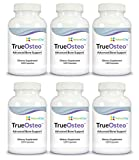 TrueOsteo Plant Calcium Bone Support Supplement with Vitamin K2 + D3 Magnesium & Silica – 6 Pack