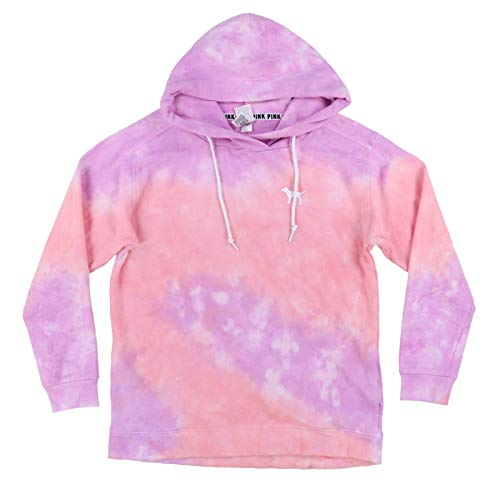 Victoria's secret Pink Crossover Tunic Soft Fleece Hoodie Sweatshirt Tie Dye Small NWT