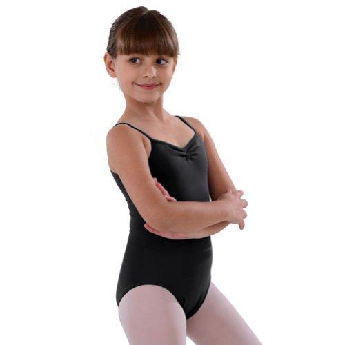 So Danca Black Pinched Neckline Dance Leotard Toddler Girls 2-4T - Pinched Neckline Dance Leotard