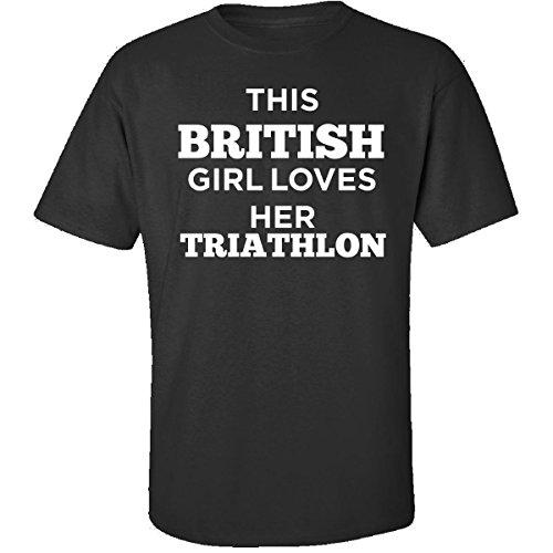 This British Girl Loves Her Triathlon - Adult Shirt L - British Triathlon