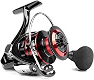 Carp Reel Ultra Smooth Powerful Spinning Fishing Reel Metal Body Spinning Reels for Saltwater and Freshwater F