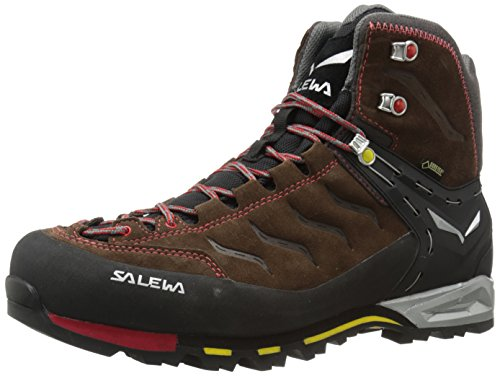 Salewa Mens Ms Mtn Trainer Mid Gtx Scarpa Da Trekking Marrone / Giallo