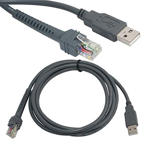 dulawei3 2m Barcode Scanner USB Cable for Motorola Symbol LS1203 LS2208 LS4208 ()