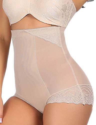 Ultra Thin High Waisted Shaper Panty Body Shaper Firm Control Shaperwear Briefs Nude