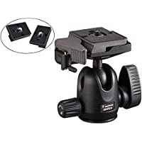 Manfrotto 494RC2 Compact Ball Head with Quick Release Plate and Two Replacement ZAYKIR Quick Release Plates