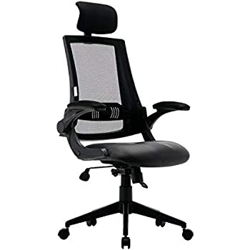 Mesh Ergonomic Office Chair Home Arm Desk Chair Tall Gaming Computer Chair for Women Men with Leather Seat Adjustable Back Lumbar Support High Back BIFMA ...