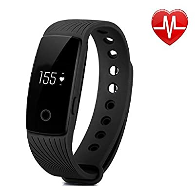 Fitness Tracker with Heart Rate Monitor, YAMAY? Bluetooth Pedometer Bracelet Wristband for Android iPhone Call Text Notification with Caller ID Alarm Sleep Monitor for Women Men Walking Running