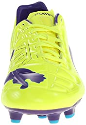 PUMA Men\'s Evopower 3 Firm Ground Soccer Shoe,Fluro Yellow/Prism Violet/Scuba Blue,8 M US