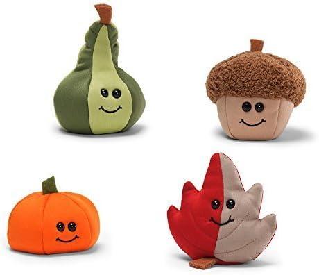"""Gund Set of 4-2/"""" Beanbag Pumpkins"""