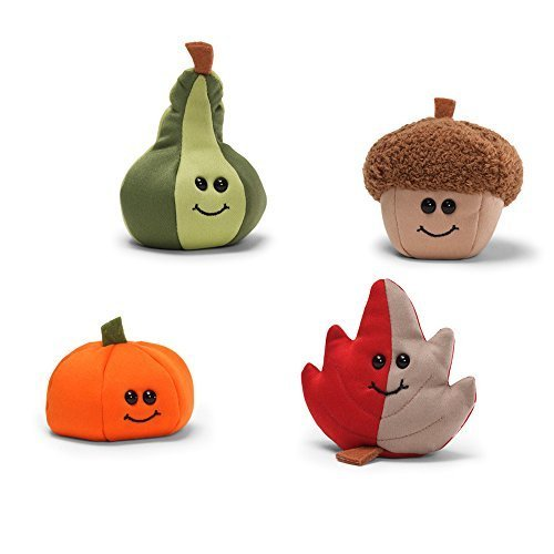 GUND Halloween/Harvest/Thanksgiving Beanbag Assortment of 4
