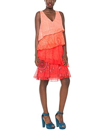 Potent Orange Desigual Kleid Damen 61v28q5 Orange 4WIISqrpn