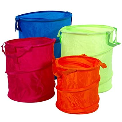 Use a laundry hamper to hold recyclables. You can even get one in your team's colors for added spirit.