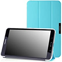 MoKo Samsung Galaxy Tab 4 8.0 Case - Ultra Slim Lightweight Smart-shell Stand Case for Samsung Galaxy Tab 4 8.0 Inch Tablet, Light BLUE (WILL NOT Fit Samsung Galaxy Tab 3 8.0)