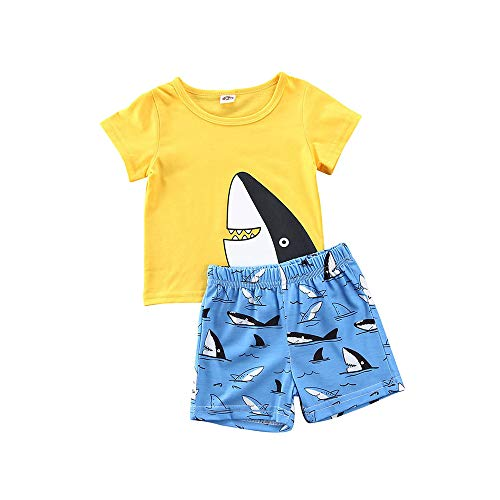 2Pcs Baby Boys Summer Clothing Sets Cute Letters Print Sleeveless Tank Tops T-Shirt+Palm Shorts Outfits