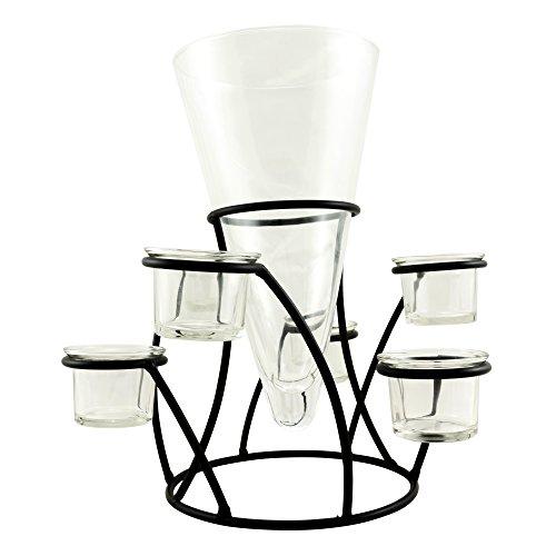 Stonebriar glass vase tea light votive set modern table