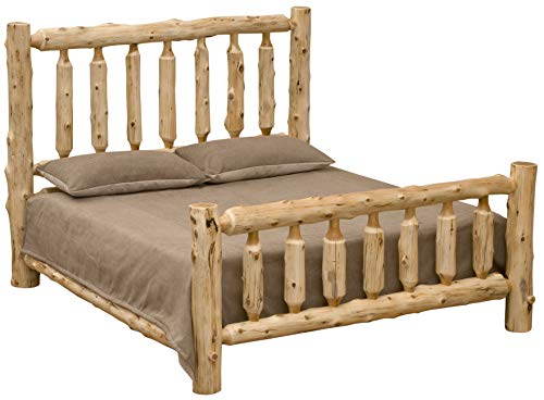 Fireside Lodge Furniture 10010 Traditional Cedar Log Bed, King