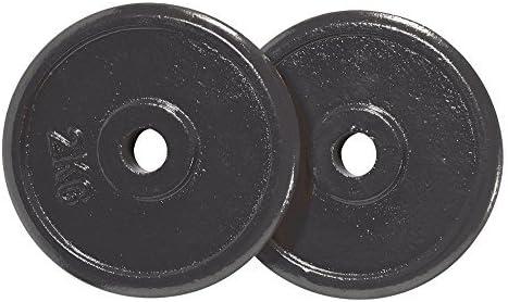 Schiavi Sport/ / Par de discos de hierro fundido esmaltado para mancuernas