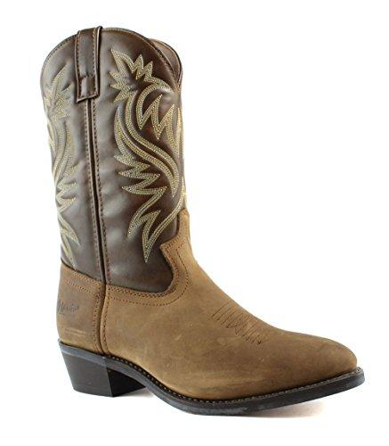 Laredo Mens Tan Leather London 12in Distressed R Toe Cowb...