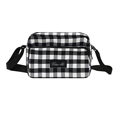 Sherry Women Checkerboard Canvas Crossbody Bag Small Shoulder Bag Phone Purse