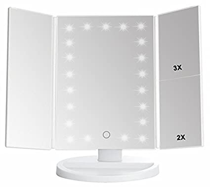 Tri Fold Vanity Mirror With Lights Best Amazon Lighted Makeup Mirror Trifold Vanity Mirror With 60X