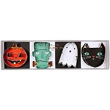 Meri Meri Halloween Cookie Cutter Set of 4 Pumpkin, Monster, Ghost, Black Cat